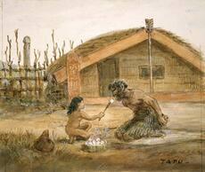 Child feeding a tohunga