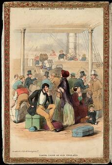 Taking leave of old England