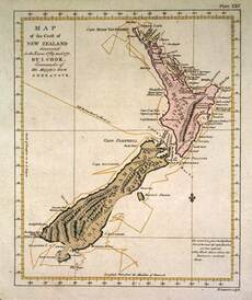 Cook's 1773 map of New Zealand
