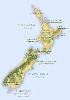 Māui names the land