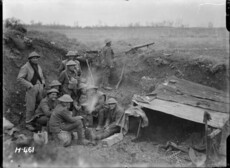 NZ soldiers around a billy