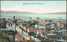 Postcard. Wellington from the Terrace. G & G series, no. 116. Printed in Berlin. [1904-1914].