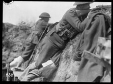 New Zealand troops in the trenches.