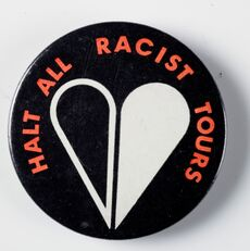 Halt All Racist Tours badge
