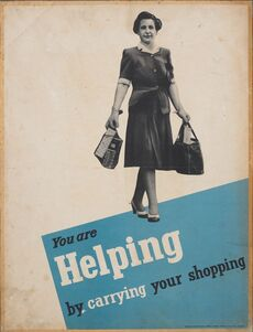 Poster, 'You are helping by carrying your shopping'