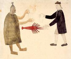 Tupaia's painting of Joseph Banks