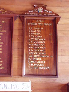 Sedgemere Hall WW2 Memorial Board