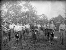 Brass band in [Samoa] : photograph