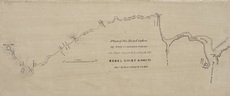 Plan of the road taken by the combined forces on their march to attack the rebel chief Kawiti : Dec & Jan  1845 & 1846