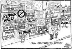 Anti-graffiti cartoon