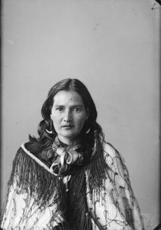 Maori woman from Hawkes Bay district