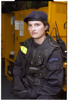 Armed Offenders Squad member, Sacha Haskell - Photograph taken by Ray Pigney