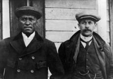 Rua Kenana and the Reverend John George Laughton, possibly at Maungapohatu