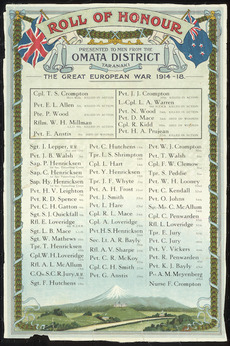 Omata roll of Honour
