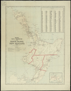 Railway, postal and telegraph map of the North Island