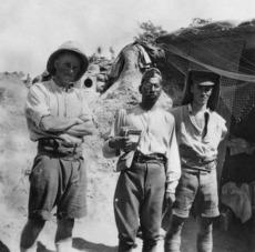 Three soldiers, Gallipoli, Turkey