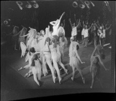 Ballet 'Children of the Mist' with unidentified dancers at the State Opera House, Wellington City