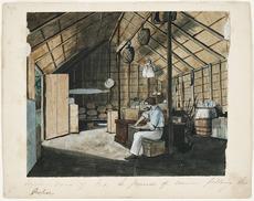 Interior of settler's house