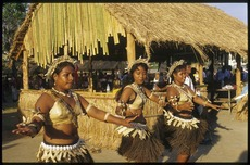 Kiribati women performing at the 8th Festival of Pacific Arts, Noumea, New Caledonia