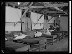 Boys' dormitory at Polish children's refugee camp