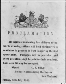 Proclamation for civil evacuation
