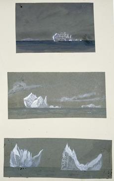 Iceberg and ship