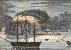 [Williams, John], d 1905 :H M S North Star, destroying Pomare's pa, Otiuhu, Bay of Islands (1845)