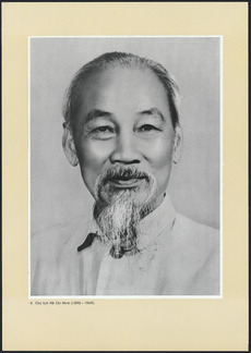Photographic poster of Ho Chi Minh