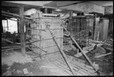 Base isolators in the foundations of the Parliament Building