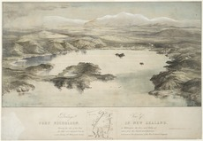 Aerial view of Wellington harbour