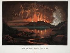 Mount Tarawera in eruption Ref: C-033-002