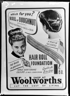 Hair roll advertisement
