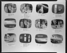 Television commercial storyboard