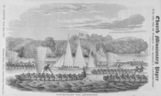 Williams, Henry, 1782-1867 :New Zealand war expedition. [Engraving. London, Seely's, 1835 & 1849]