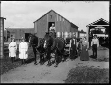 Family on their dairy farm