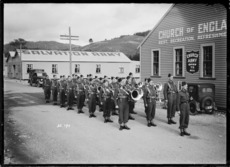 Brass band at Trentham Military Camp