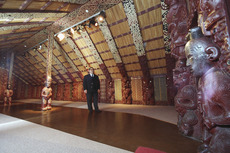 Walter Waipara in the meeting house Te Hau Ki Turanga - Photograph taken by Phil Reid