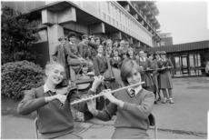 Wellington Girls College choir and string ensemble - Photograph taken by Ian Mackley