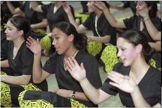 Wellington Girls College pupils rehearsing - Photograph taken by Melanie Burford