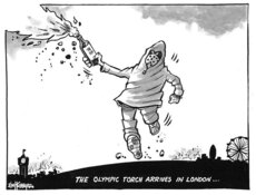 Olympic torch in London