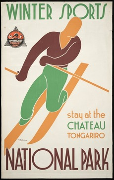Winter sports at the Chateau, Tongariro