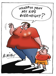 """Whaddya mean my kid's overweight?"""