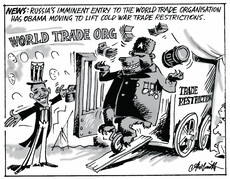 Russia's entry to the World Trade Organisation.