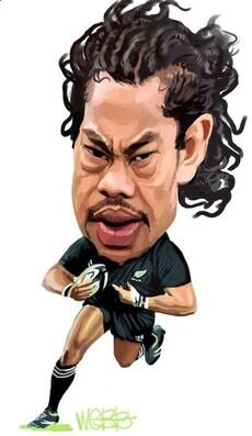 Caricature of Tana Umaga