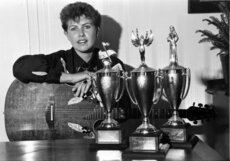 Brenda Anderson, 1989; wins senior female and female gospel awards at Hutt Valley Country Music Club's fifth annual awards.