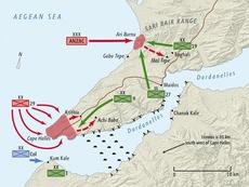 Gallipoli invasion map