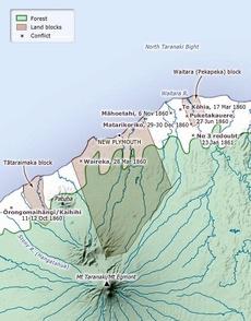 Taranaki War map 1860-61