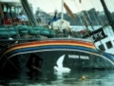 Rainbow Warrior after the bombing