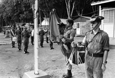 Flag lowering ceremony, Vietnam