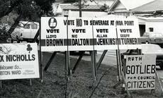 Local-body election hoardings, 1986
